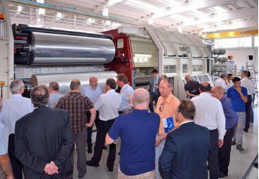 Vacuum Metallization and adhesive lamination demonstrated at Nordmeccanica